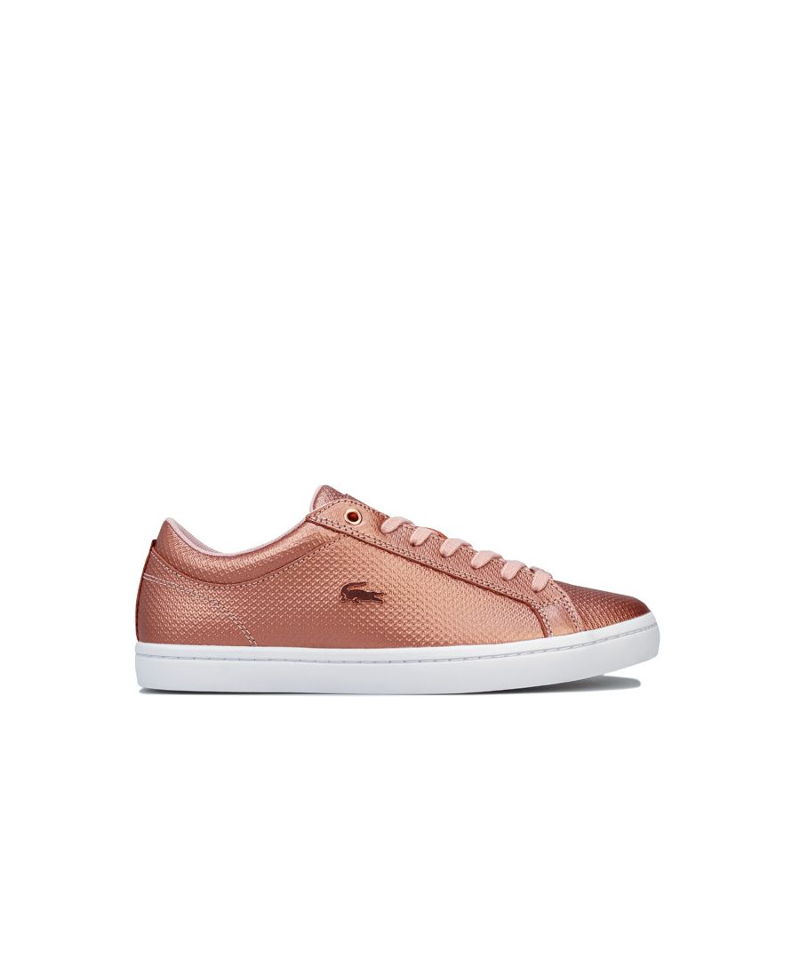 Image for Women's Lacoste Straightset Trainers in Pink white