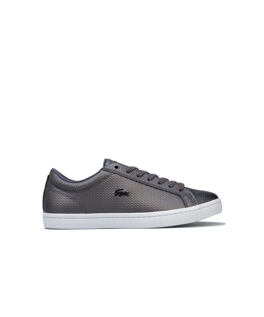 Image for Women's Lacoste Straightset Trainers in Black-White