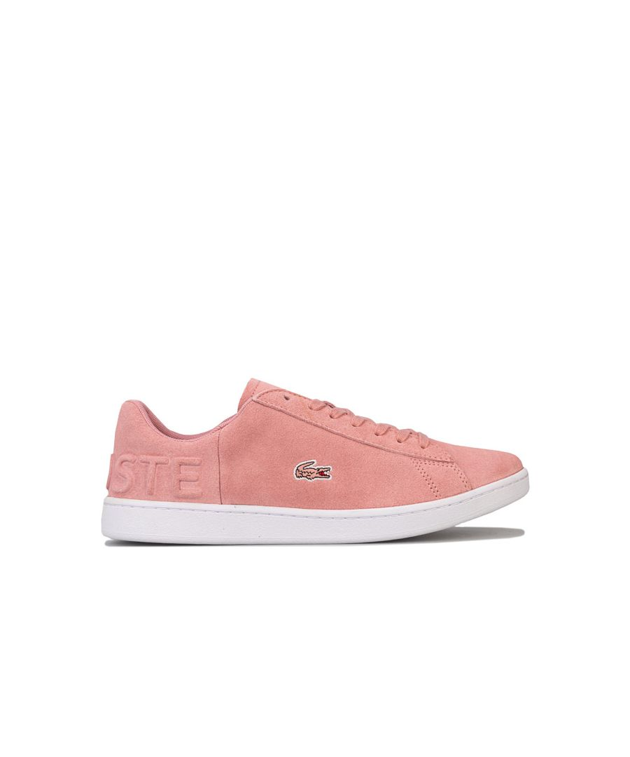Image for Women's Lacoste Carnaby Evo Suede Trainers in Pink