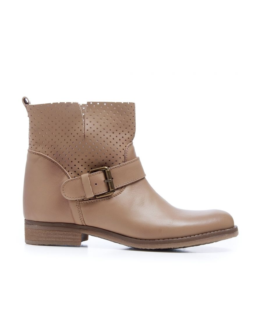 Image for Leather Boots Women Taupe María Barceló