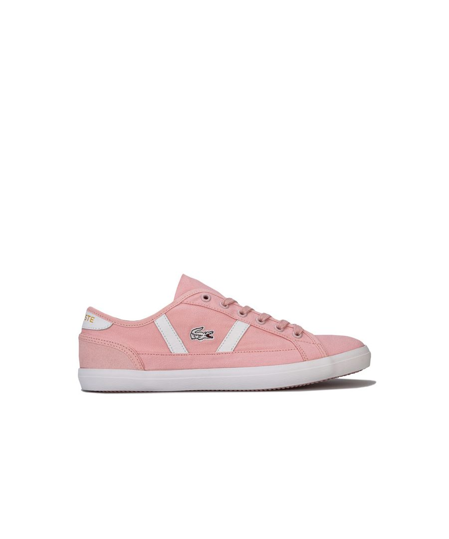 Image for Women's Lacoste Sideline Trainers in Pink white