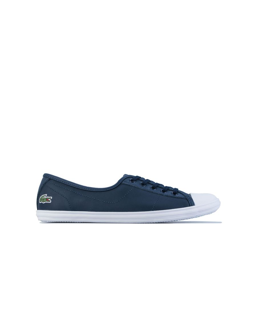 Image for Women's Lacoste Ziane Leather Trainers in Navy