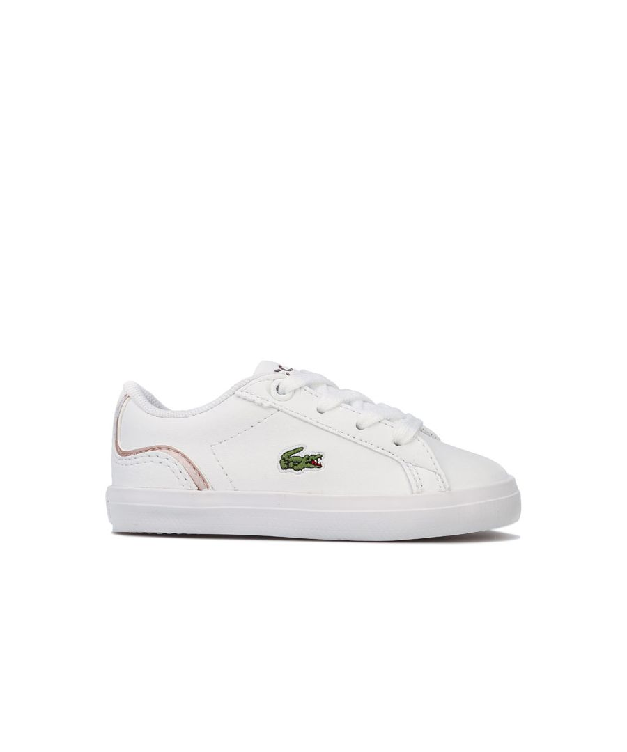 Image for Girl's Lacoste Infant Lerond 119 Trainers in White pink