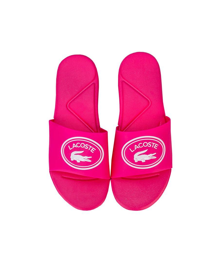 Image for Girl's Lacoste Junior L.30 Slide Sandal in Pink