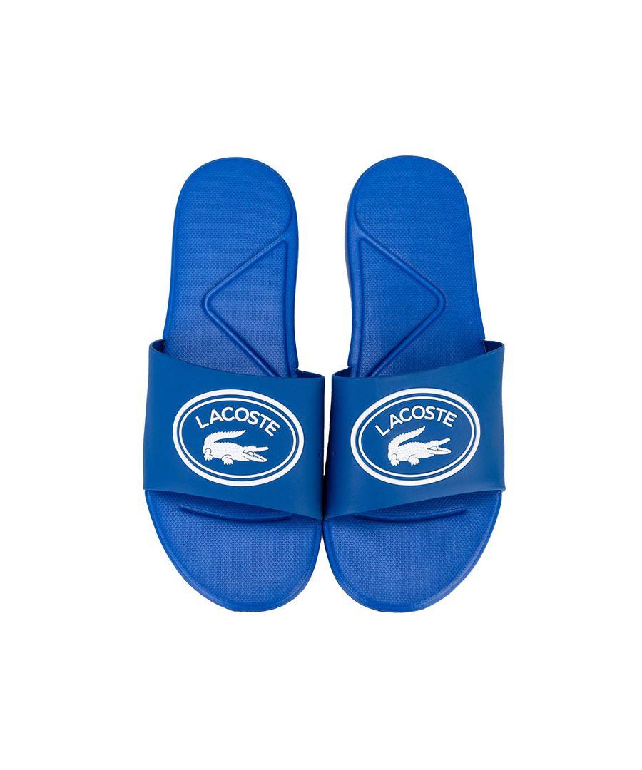 Image for Boy's Lacoste Junior L.30 Slide Sandal in Blue