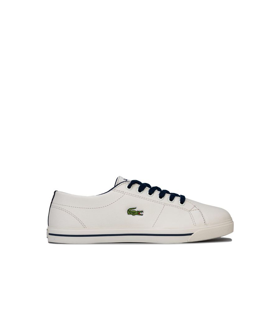 Image for Boy's Lacoste Junior Riberic 119 2 Trainers in White Navy