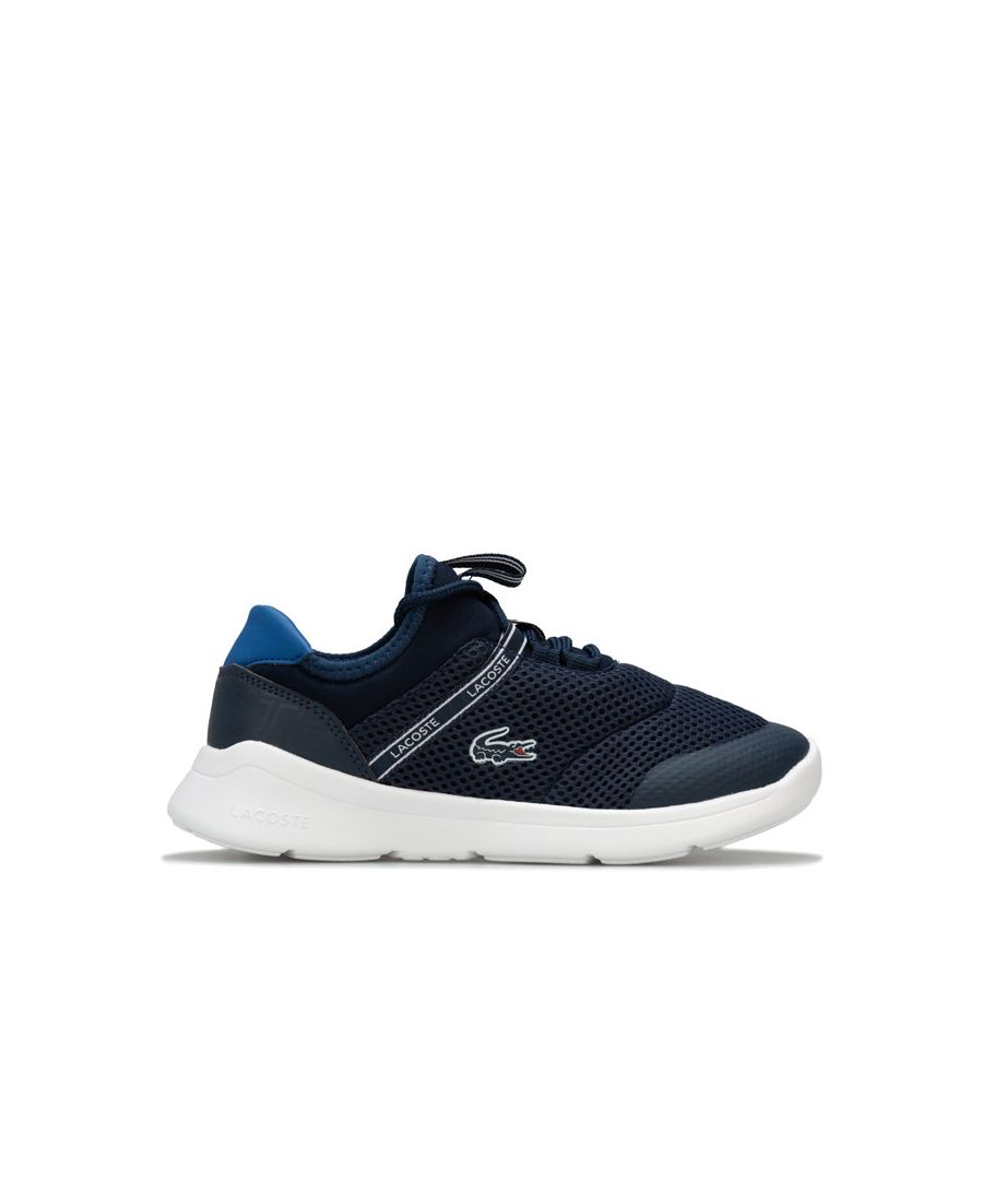 Image for Boy's Lacoste Children LT Dash Trainers in Navy
