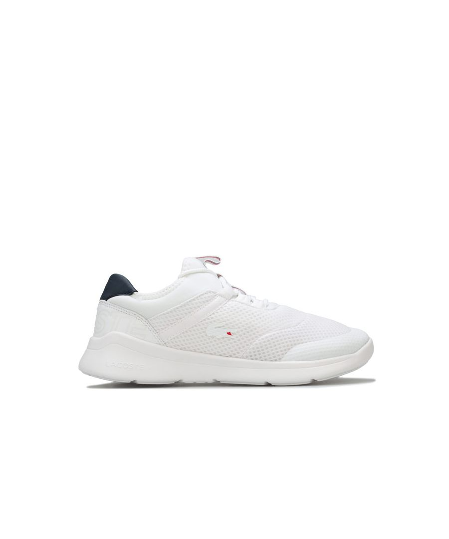 Image for Boy's Lacoste Junior LT Dash Trainers in White Navy