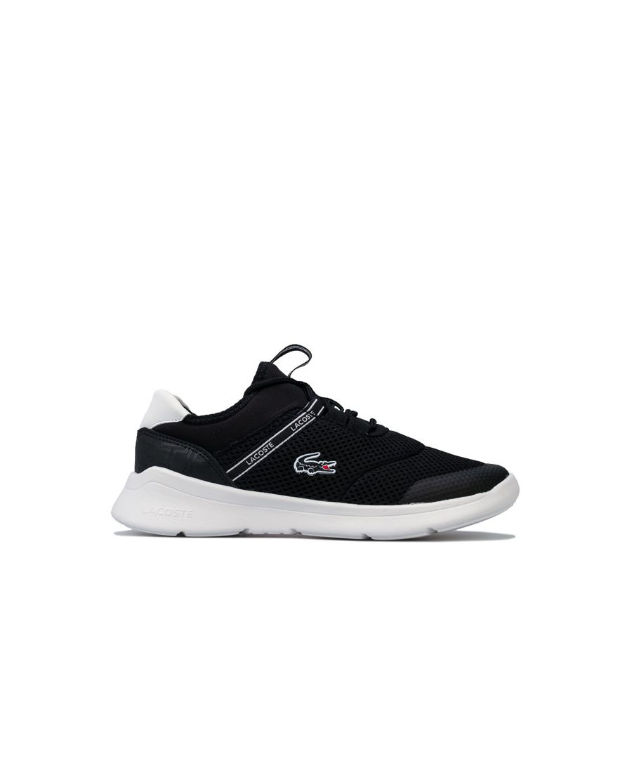 Image for Boy's Lacoste Junior LT Dash 119 Trainers in Black-White