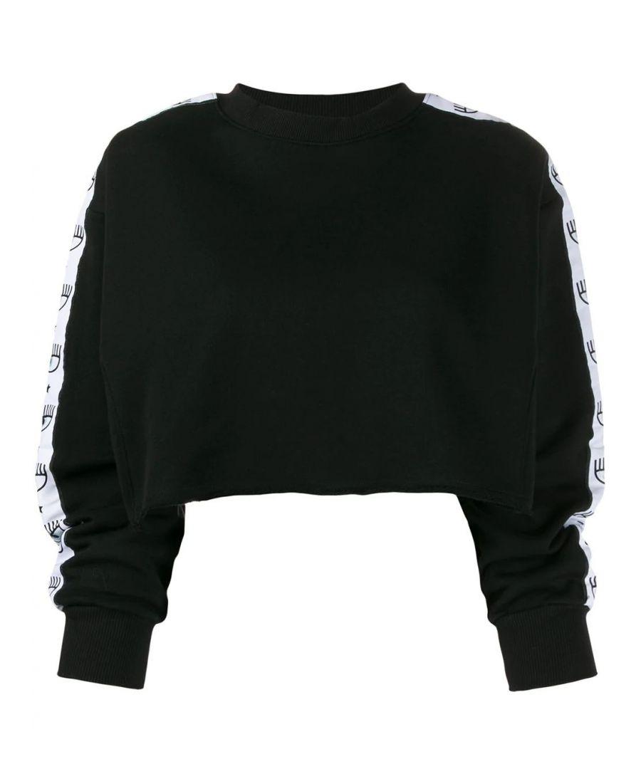 Image for CHIARA FERRAGNI WOMEN'S CFF108BLACK BLACK COTTON SWEATSHIRT