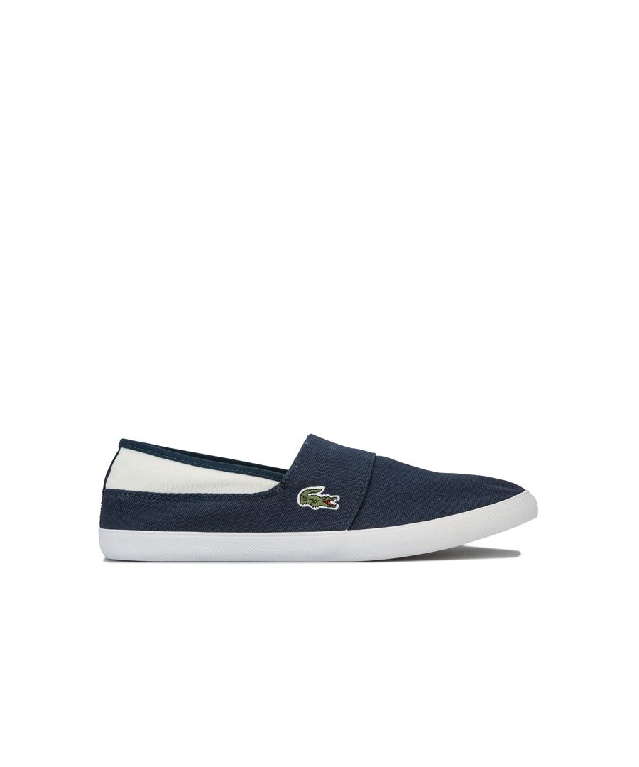 Image for Men's Lacoste Marice Canvas Slip On Trainers in Navy-White