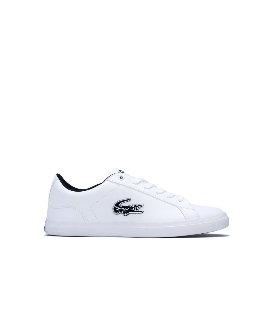 Image for Boy's Lacoste Junior Lerond 319 Trainers in White Black