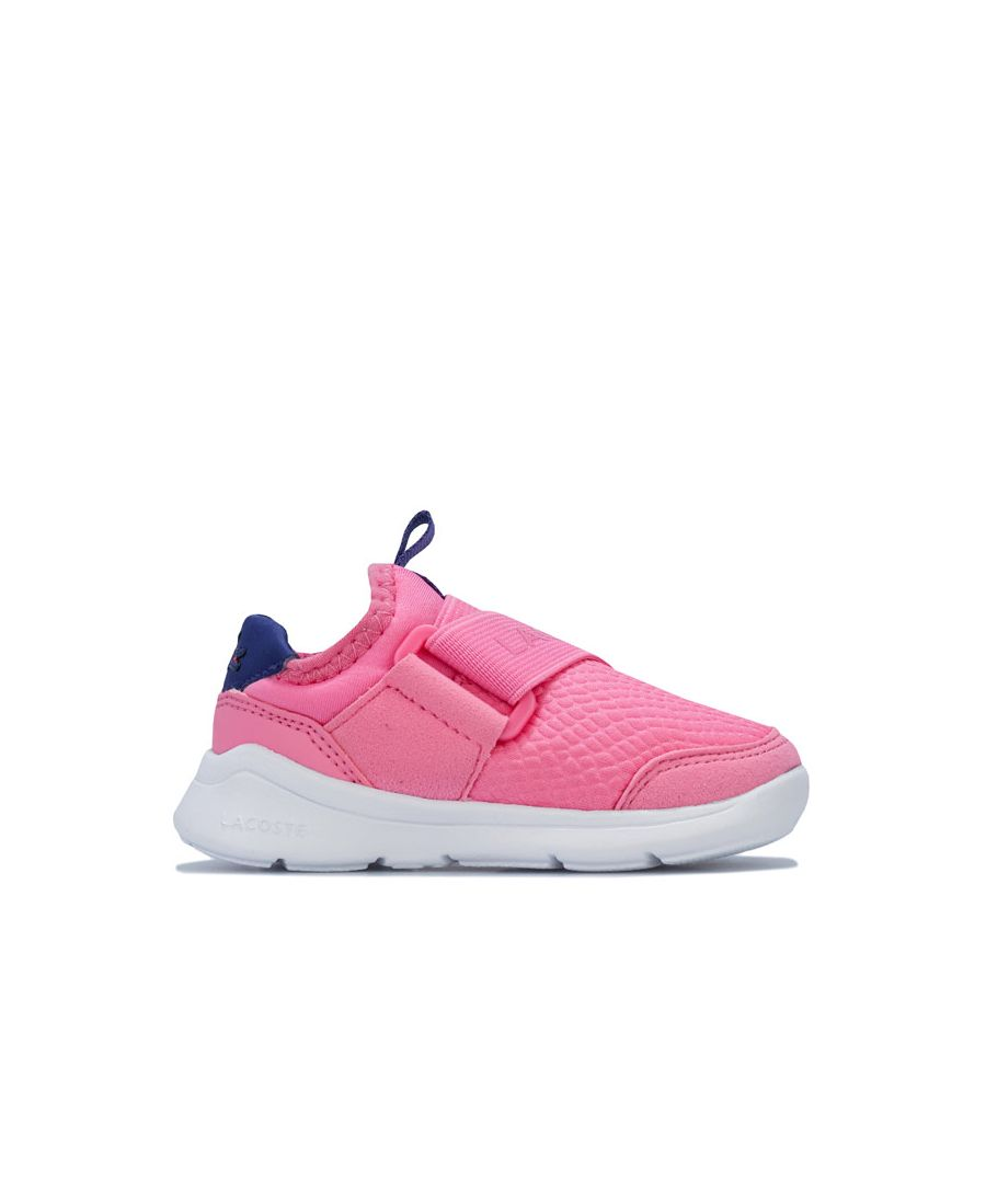 Image for Girl's Lacoste Infant LT Dash Slip Trainers in Pink purple