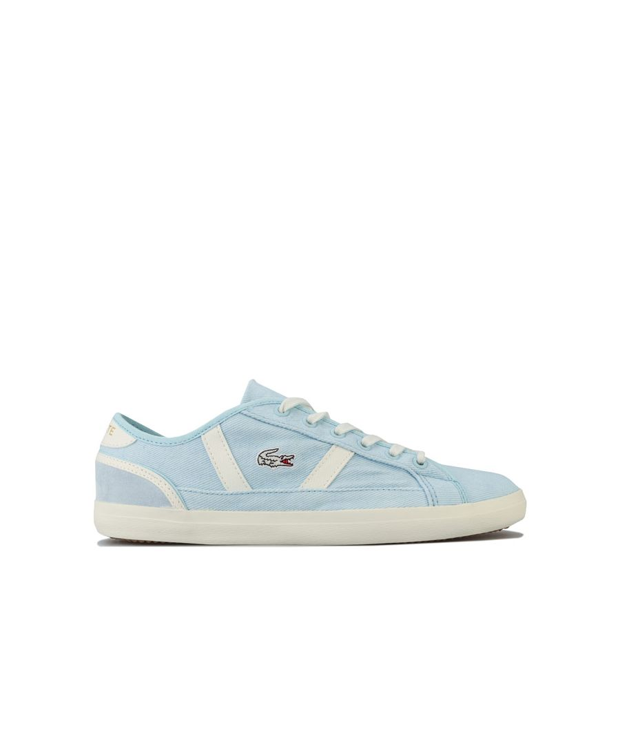Image for Women's Lacoste Sideline 120 1 Trainers in Blue cream