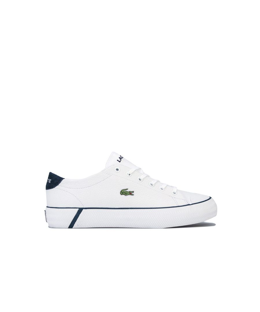 Image for Women's Lacoste Gripshot Leather Trainers in White Navy