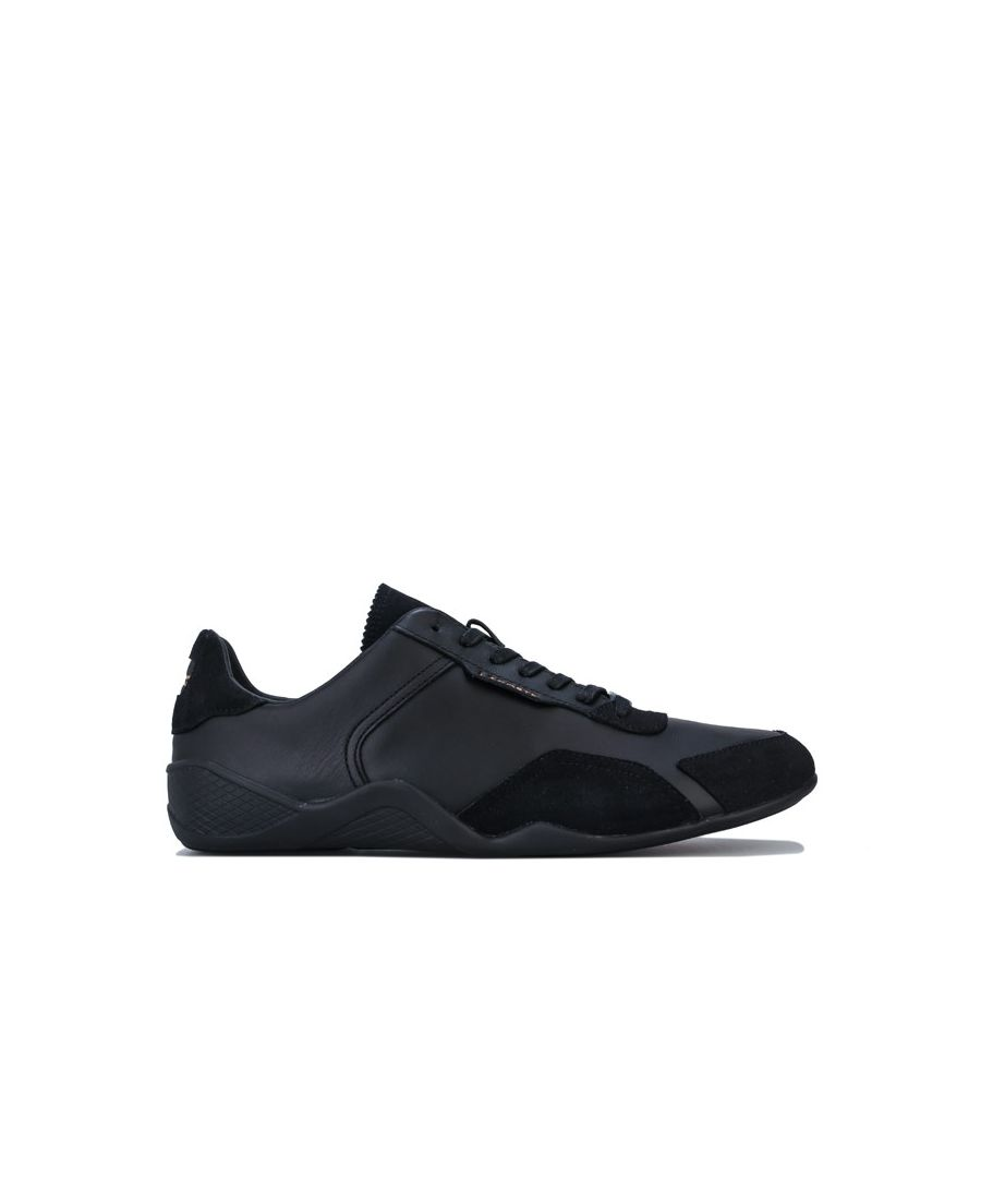Image for Men's Lacoste Hapona Leather Trainers in Black