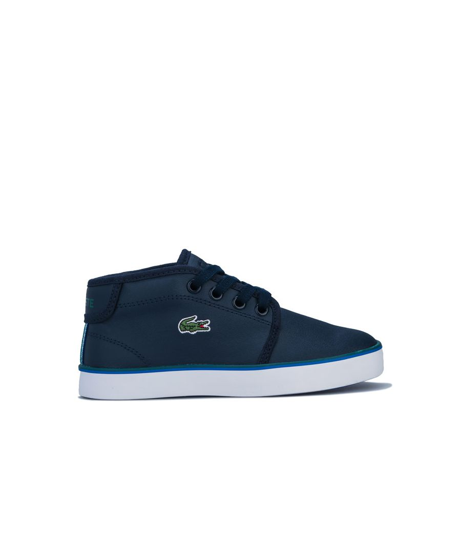 Image for Boy's Lacoste Children Ampthill Trainers in Navy