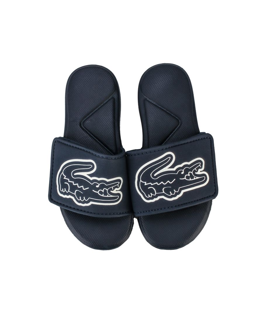 Image for Boy's Lacoste Children L.30 Strap Sandals in Navy-White