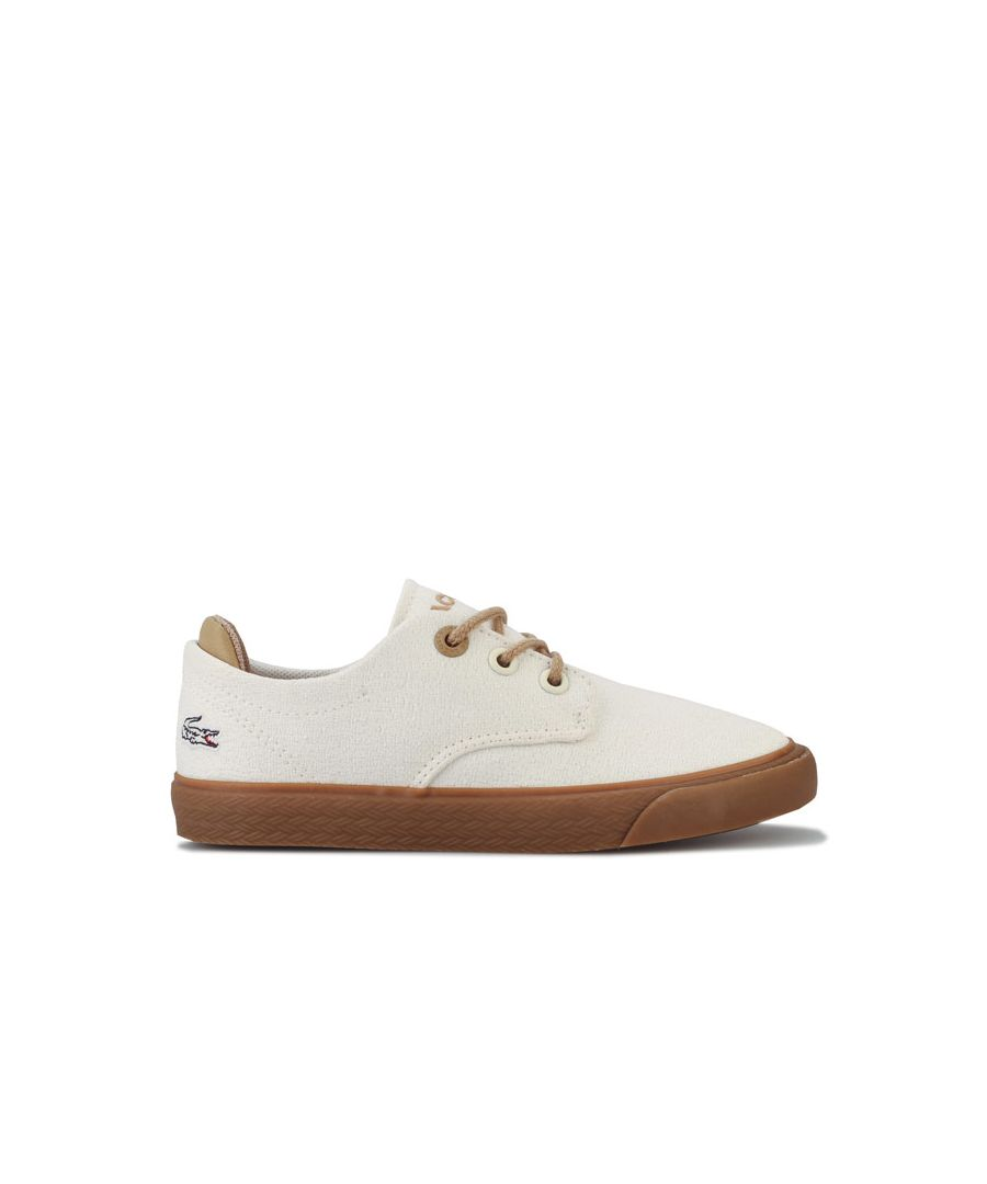 Image for Boy's Lacoste Children Esparre 120 Trainers in White