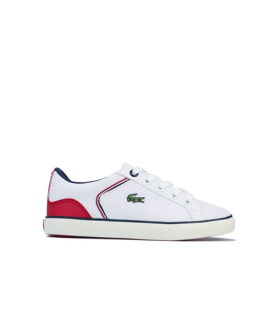 Image for Boy's Lacoste Children Lerond 220 Trainers in White Navy