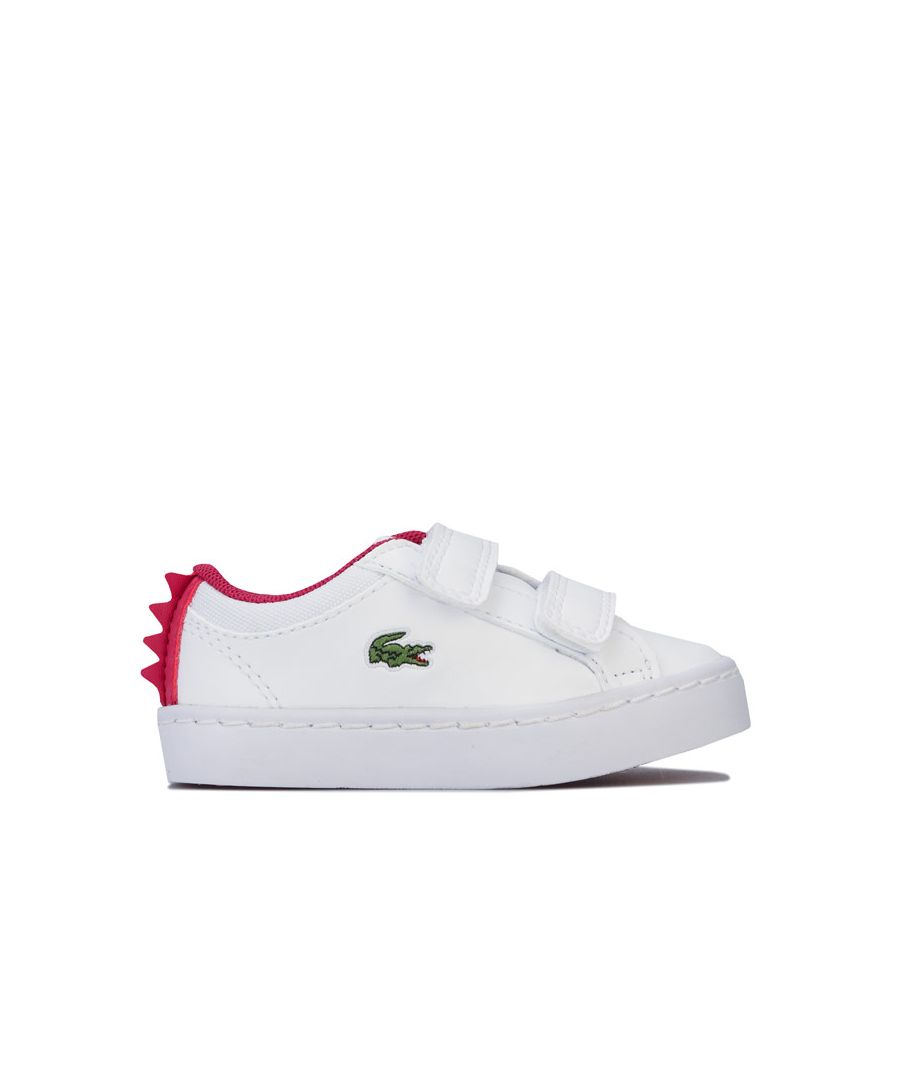 Image for Girl's Lacoste Infant Straightset 120 Trainers in White pink