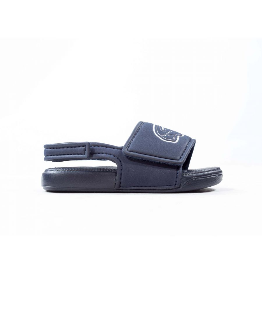 Image for Lacoste L.30 Strap Infant Slide Navy Blue/White - UK 4