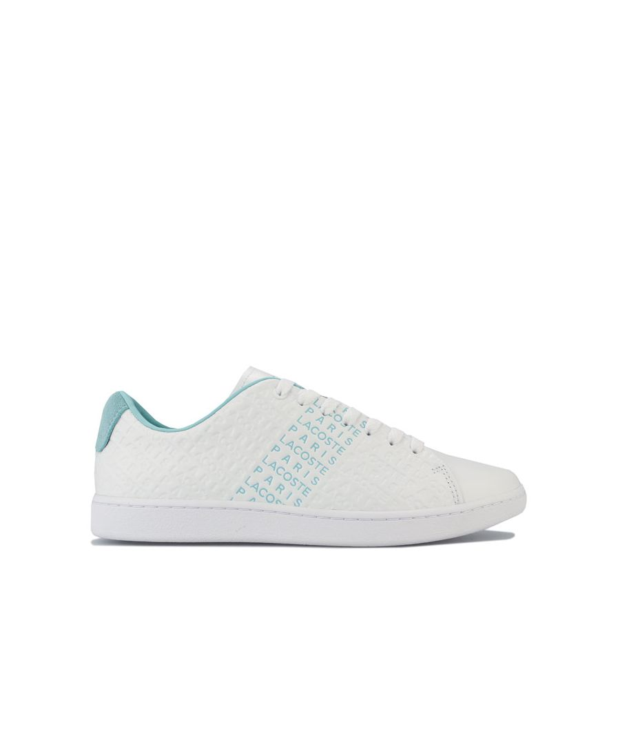 Image for Women's Lacoste Carnaby EVO 120 Trainers in White Green