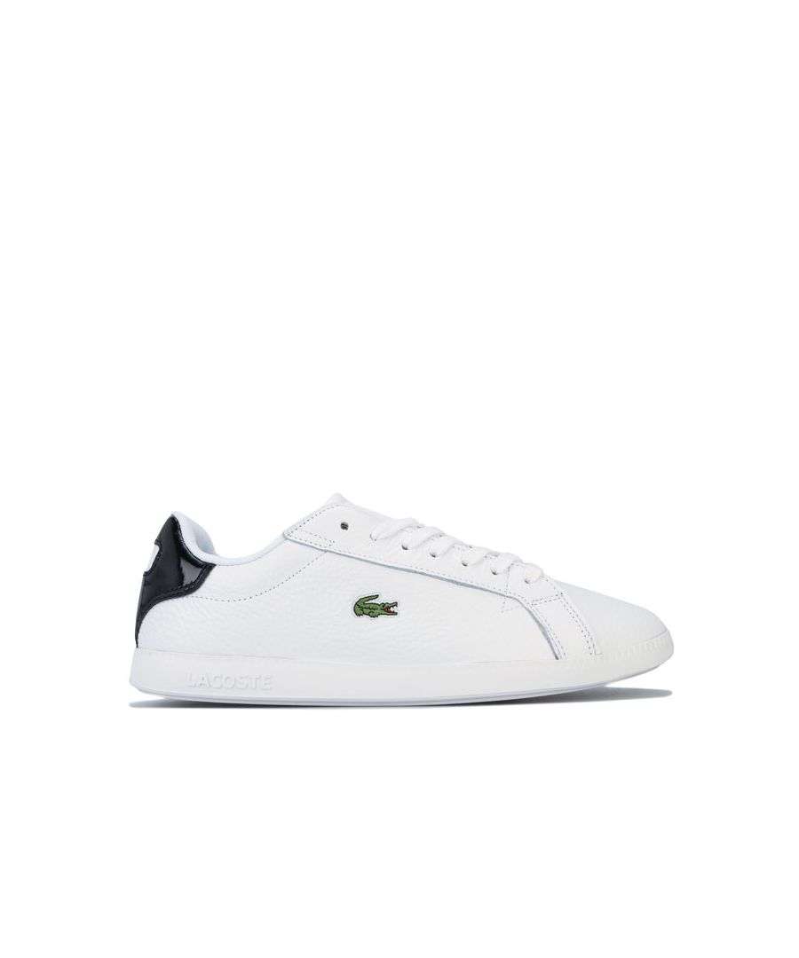 Image for Women's Lacoste Graduate Leather Trainers in White Black