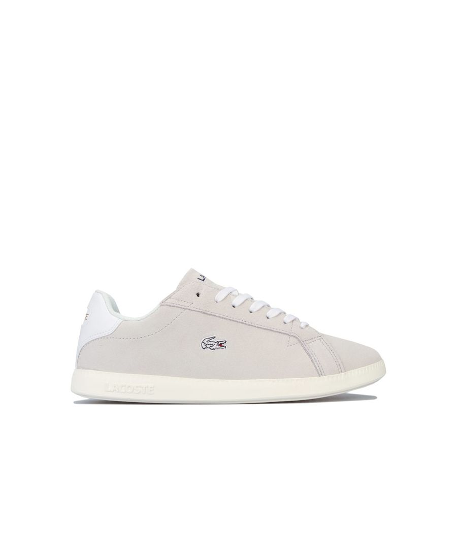 Image for Women's Lacoste Graduate Trainers in White pink