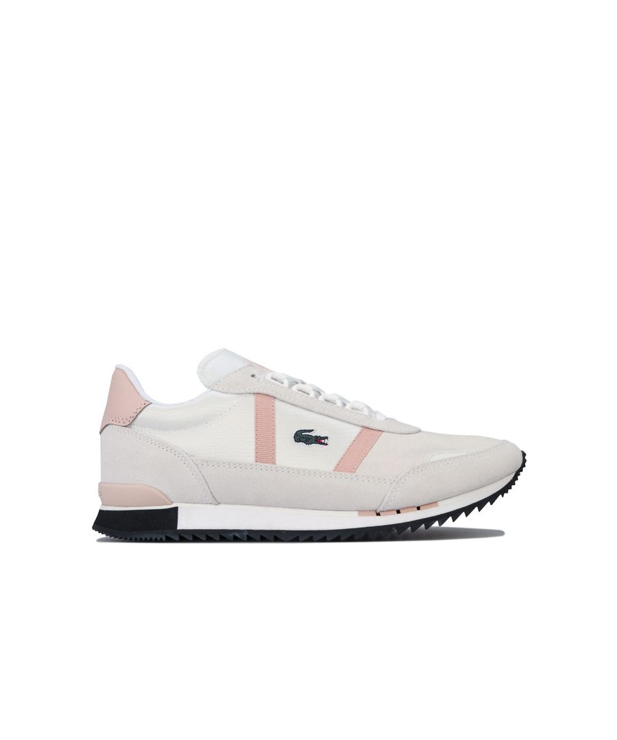 Image for Women's Lacoste Partner Retro Trainers in White pink