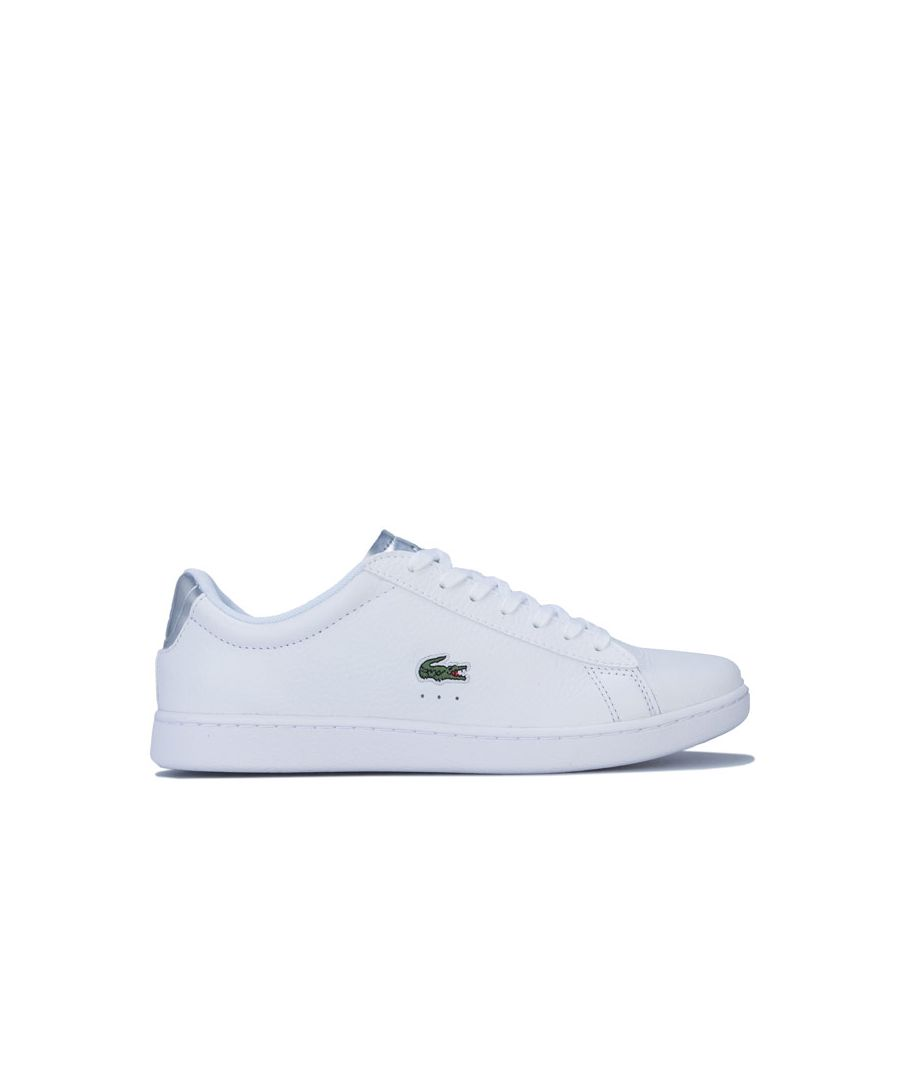 Image for Women's Lacoste Carnaby Evo Trainers in White silver
