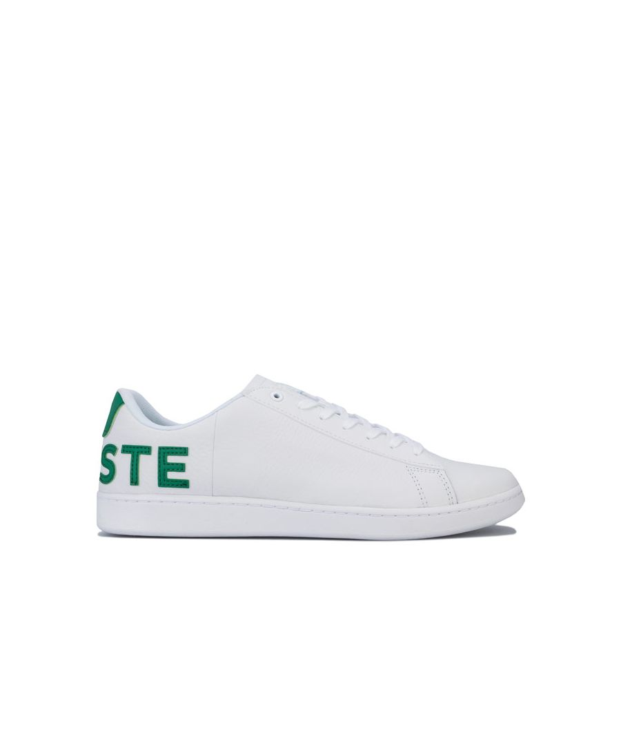 Image for Men's Lacoste Carnaby Evo 120 7 US SMA Trainers in White Green