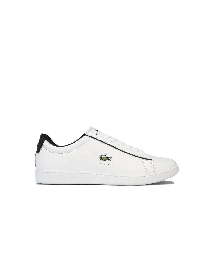 Image for Men's Lacoste Carnaby Evo 120 2 SMA Trainers in White Black