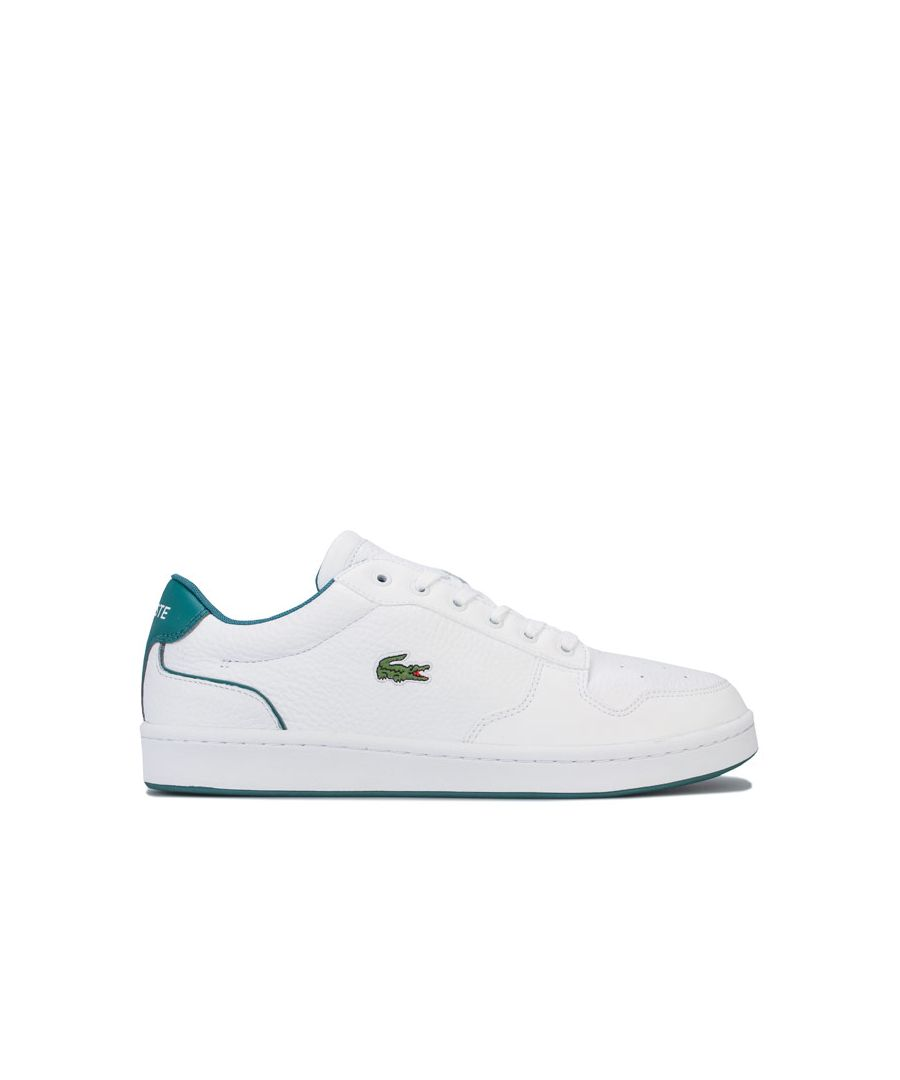 Image for Men's Lacoste Masters Cup Leather Trainers in White Green