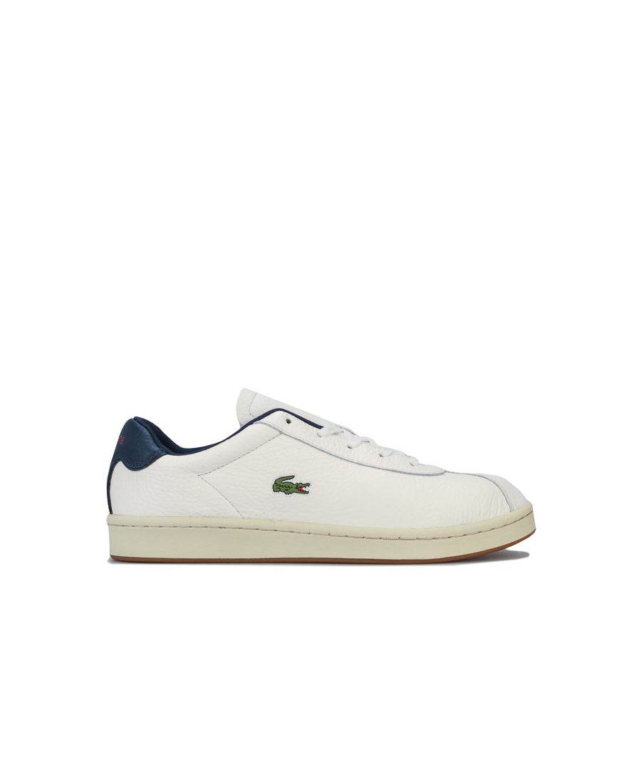 Image for Men's Lacoste Masters Cup Leather Trainers in White Navy