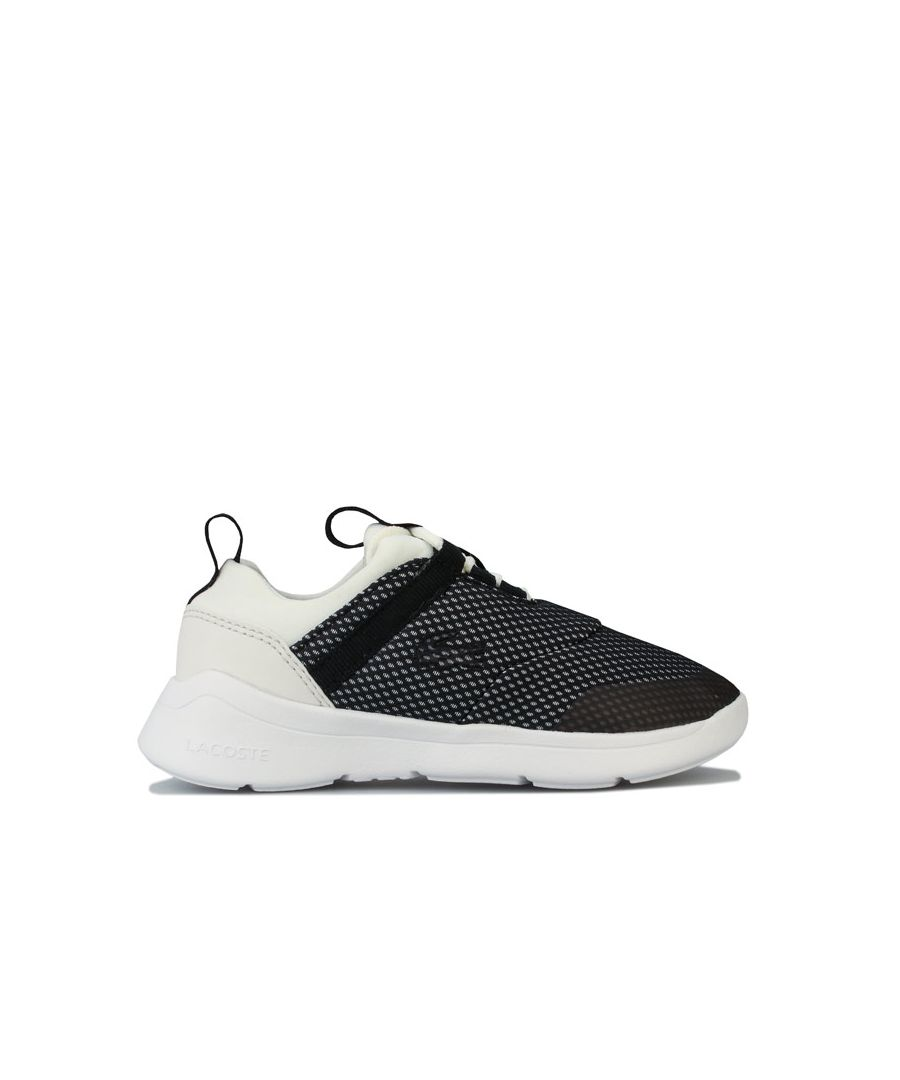 Image for Boy's Lacoste Children LT Dash Trainers in Off White