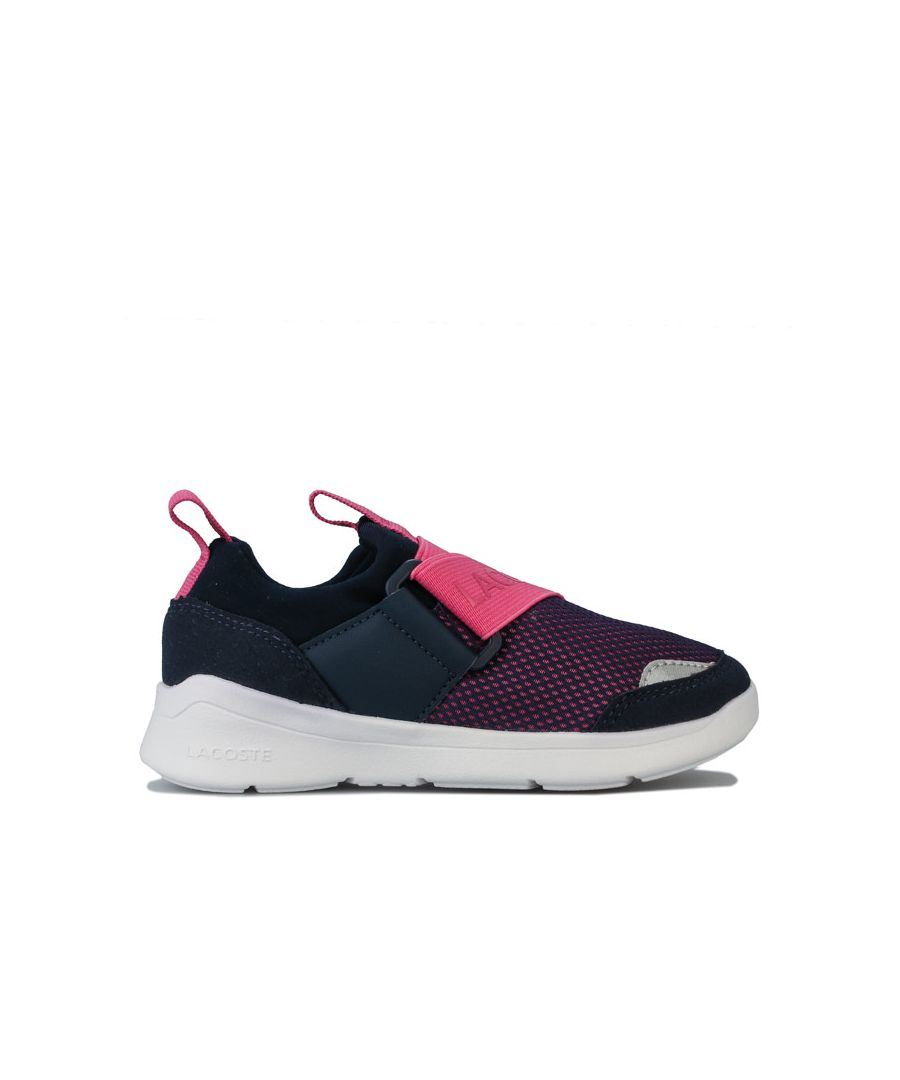 Image for Girl's Lacoste Children LT Dash Dlip Trainers in Navy