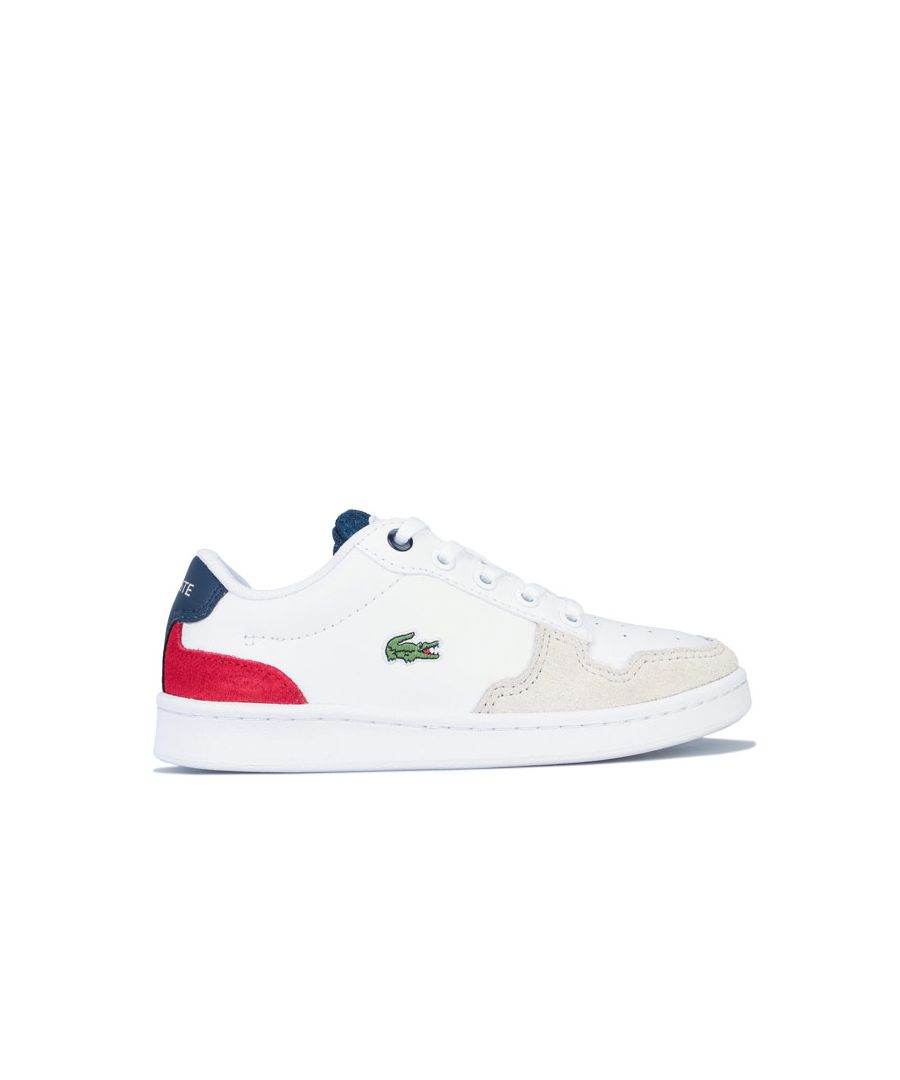 Image for Boy's Lacoste Children Masters Cup 120 Trainers in White Navy