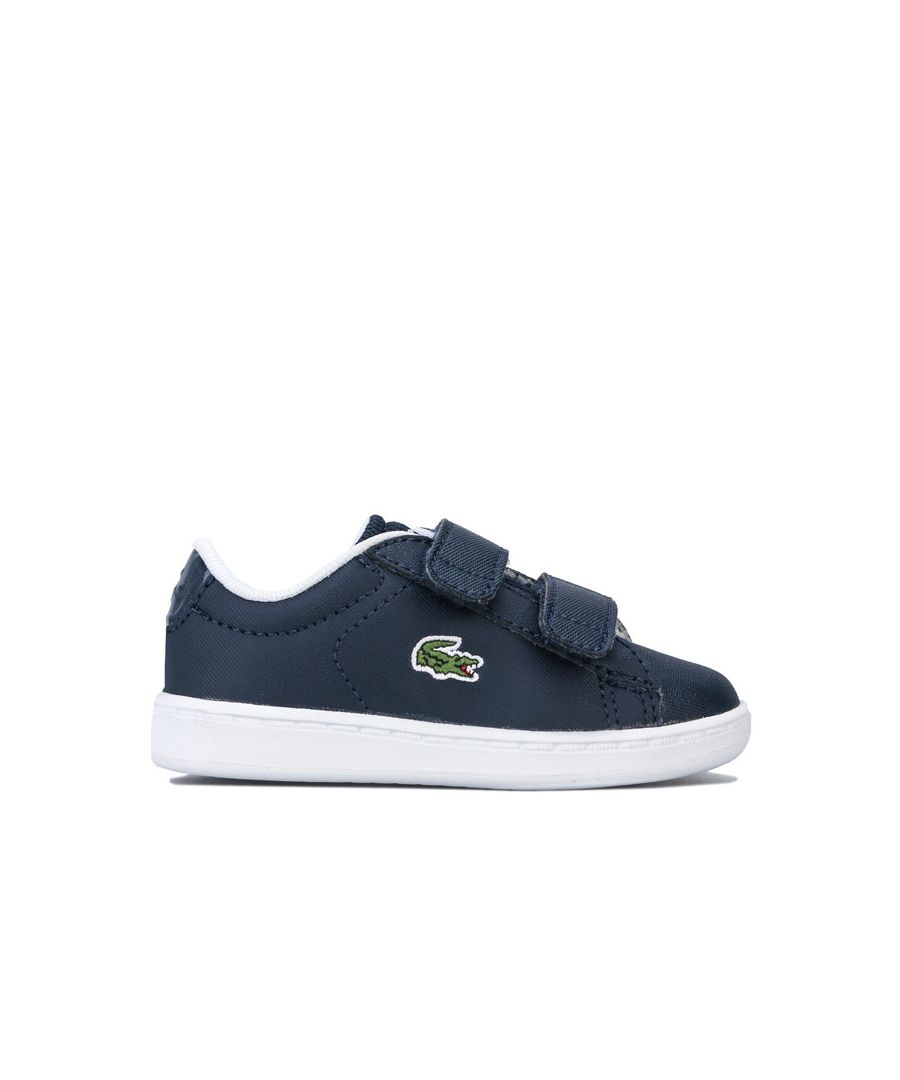 Image for Boy's Lacoste Infant Carnaby Evo Strap Trainers in Navy