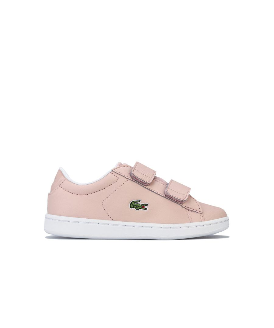 Image for Girl's Lacoste Infant Carnaby Evo Strap Trainers in Rose