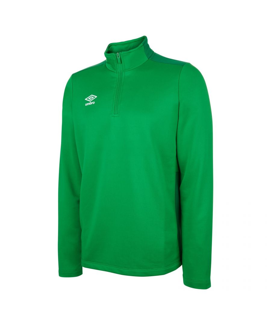 Image for Umbro Boys Half Zip Sweatshirt (Emerald Green/Verdant Green)
