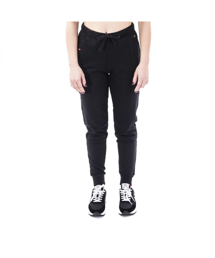 Image for SUN 68 WOMEN'S F3020611 BLACK COTTON JOGGERS