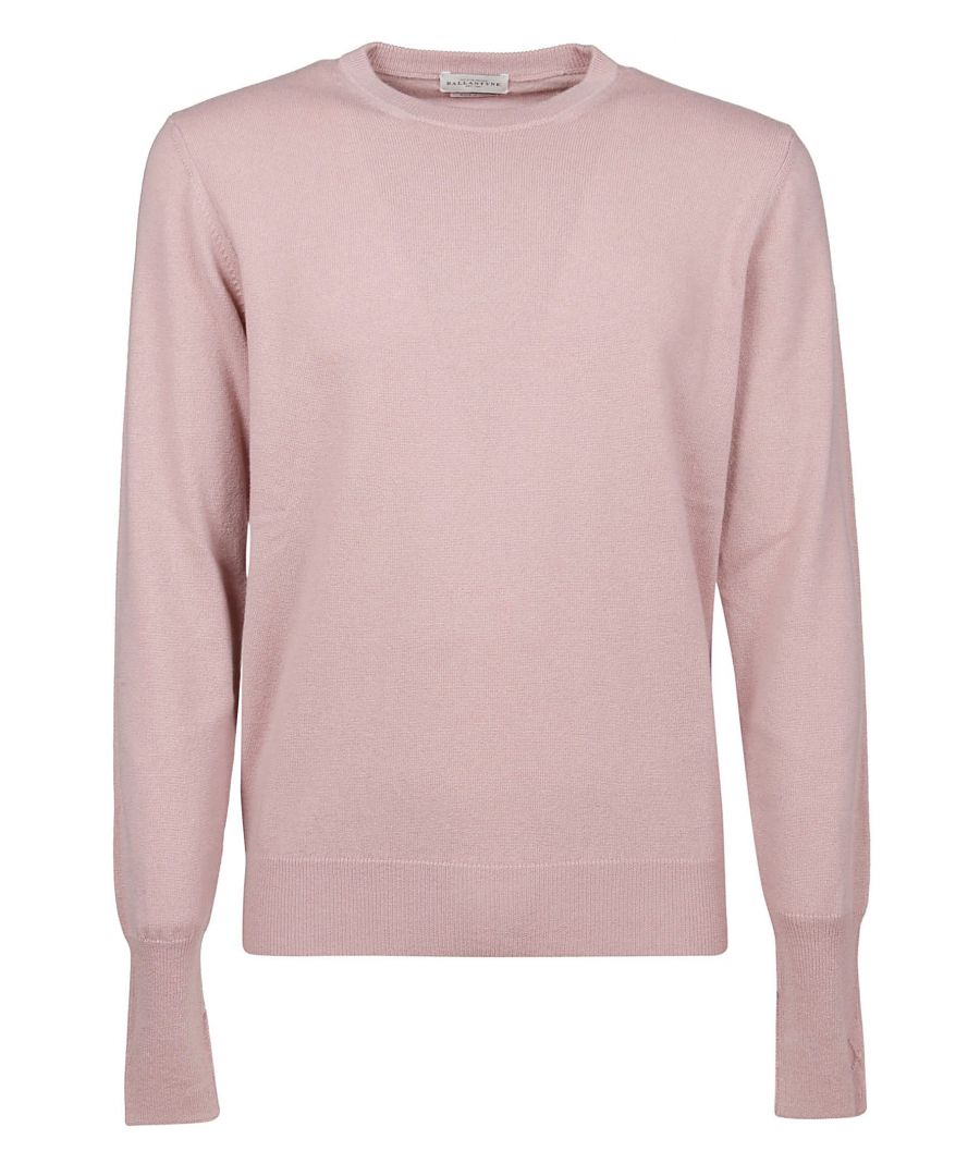 Image for BALLANTYNE MEN'S P2P00012K0011090 PINK CASHMERE SWEATER