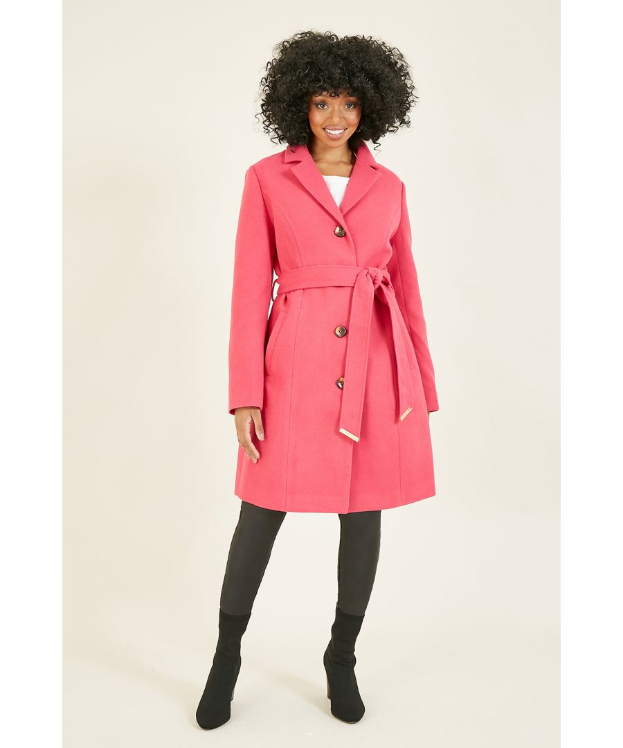 Image for Pink Belted Coat