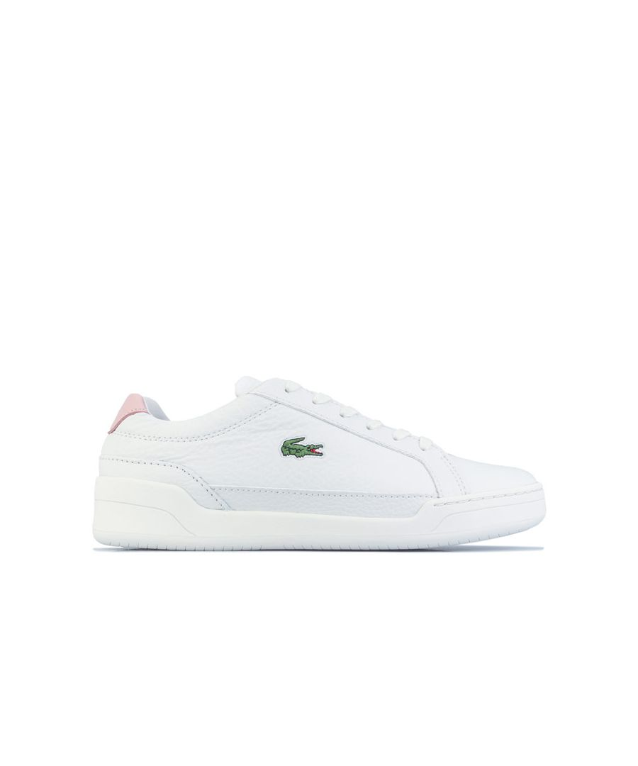 Image for Women's Lacoste Challenge Trainers in White pink