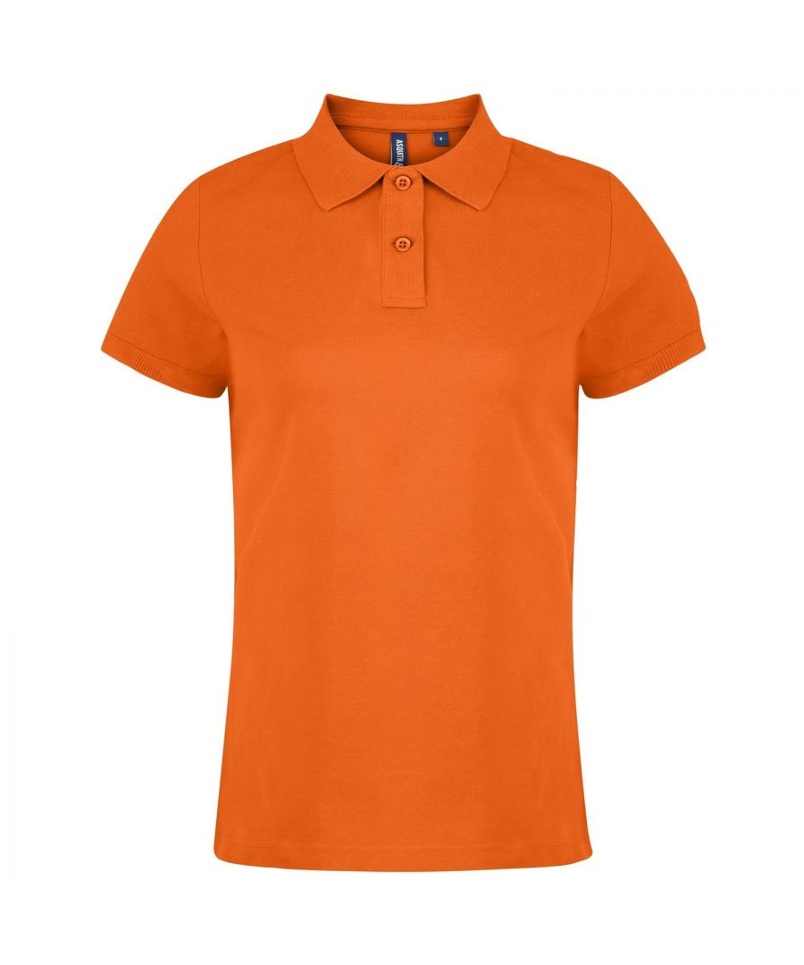 Image for Asquith & Fox Womens/Ladies Plain Short Sleeve Polo Shirt (Orange)