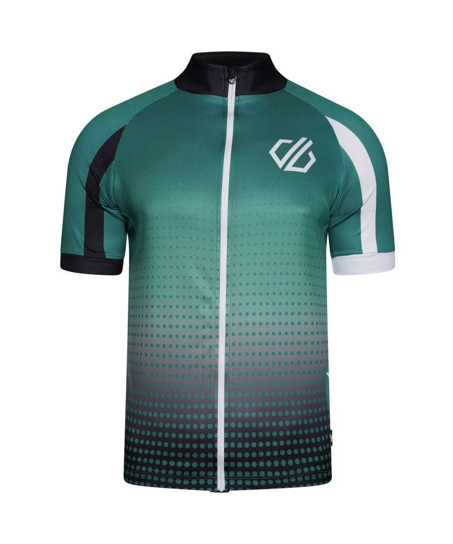 Image for Dare 2B Mens Virtuosity Short-Sleeved Jersey (Ultramarine Green Gradient)