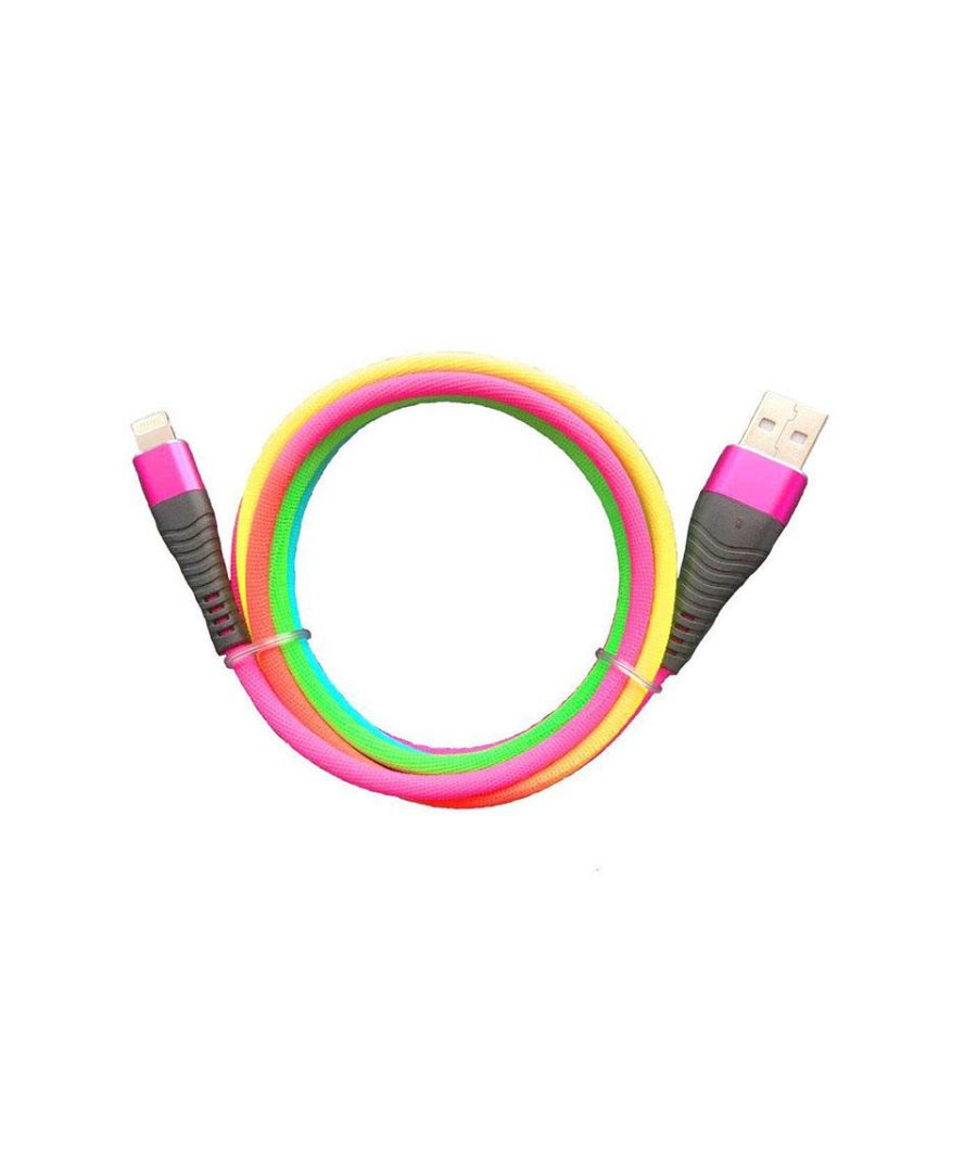 Image for Aquarius 1m Rainbow Cable Compatible with iPhone