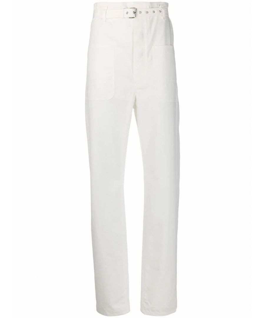 Image for ISABEL MARANT WOMEN'S PA162120P017I20WH WHITE COTTON PANTS