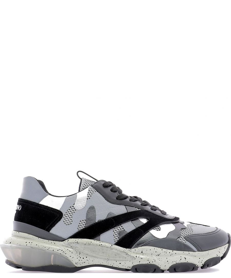 Image for VALENTINO MEN'S RY2S0B05SJH31L GREY LEATHER SNEAKERS